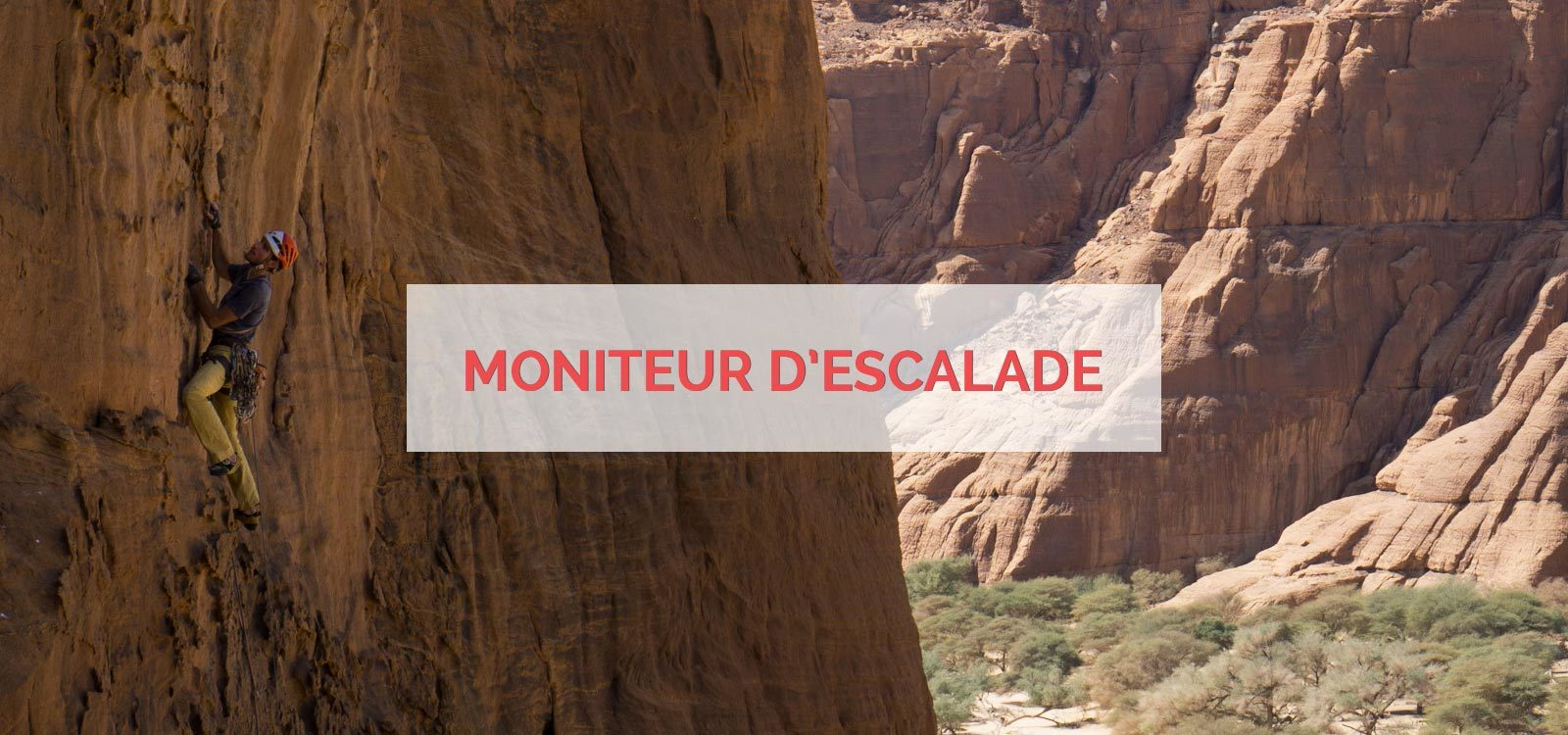 Moniteur d'escalade
